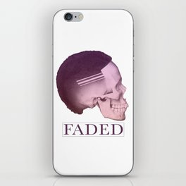 Barber Shop Faded Skull Graphics Design | Haircut Skin Fade iPhone Skin