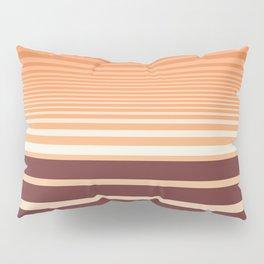 Ombre Horizontal Sienna and Orange Stripes Pillow Sham
