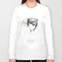 marina Long Sleeve T-shirts featuring Marina by Veronica Cosimetti Art