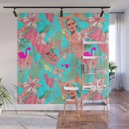 Tropical flamingos Wall Mural