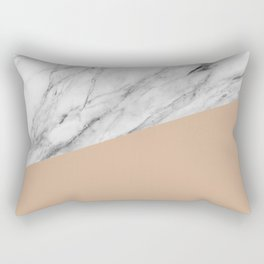 Marble and hazelnut color Rectangular Pillow
