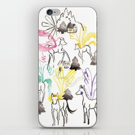 Pegasus in the forest iPhone Skin
