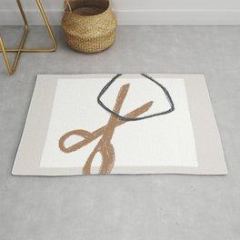 rock paper scissors Rug