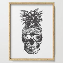 Pineapple Skull Head Serving Tray