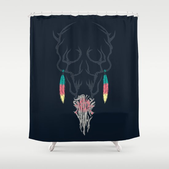 Darkness Within (Color Ver.) Shower Curtain