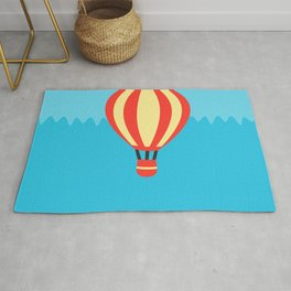 Classic Red and Yellow Hot Air Balloon Rug