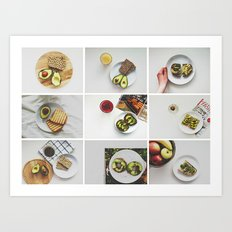 Morning stories - AVOCADO set Art Print