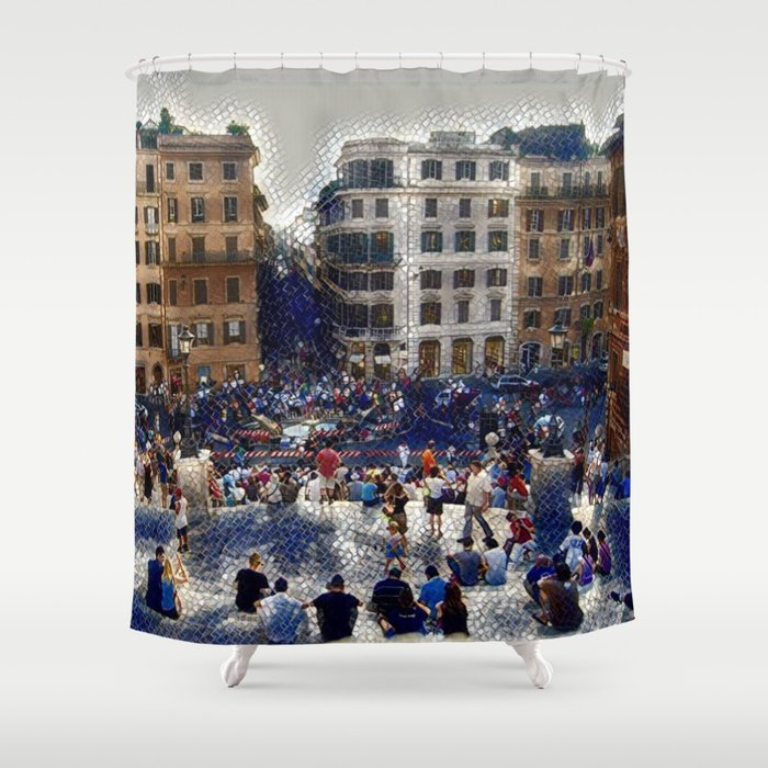 The Spanish Steps 4138 - Rome, Italy Shower Curtain