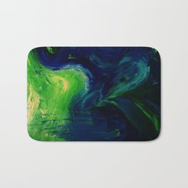 Abstract Hurricane by Robert S. Lee Bath Mat