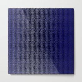 Binary Blue Metal Print