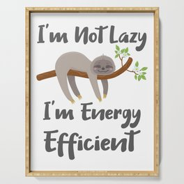 Sloth Life Gift for Sloth Lovers Not Lazy Energy Efficient Gift Serving Tray