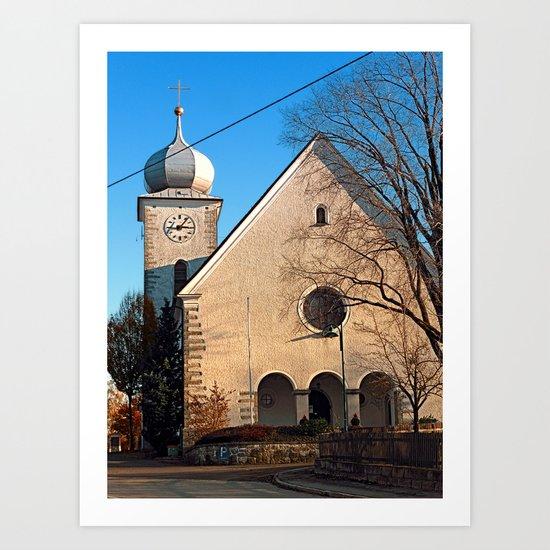 The village church of Klaffer | architectural photography Art Print
