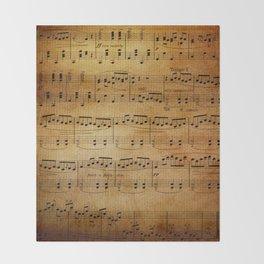 Yesterday's Music Throw Blanket