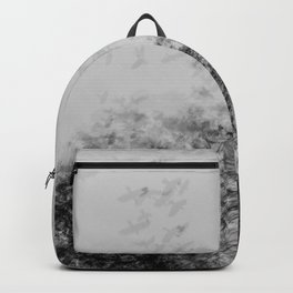 Flying Birds High Res Black and White Photography Art Print Backpack