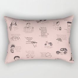 Gilmore Girls Quotes in Pink Rectangular Pillow