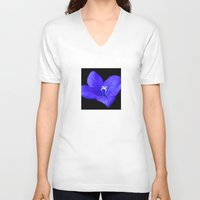 oasis V-neck T-shirts featuring Blue oasis by Trevor Jolley