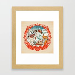 Golly Jolly Holly Framed Art Print