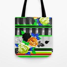 Chintz Rose Orange & Green Tote Bag
