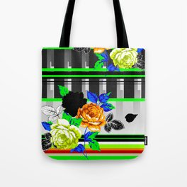Chintz Rose Orange & Green Tote Bag