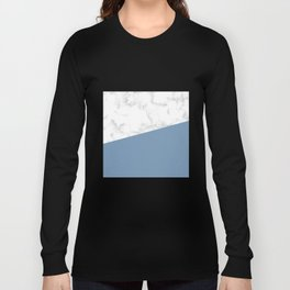 marble and ocean blue Long Sleeve T-shirt