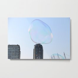Bubbles Over Vancouver Metal Print