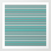 striped Art Prints featuring Striped by Marika's Artworks