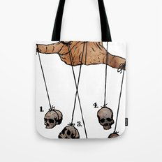 The Five Dancing Skulls Of Doom Tote Bag