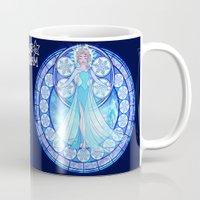 elsa Mugs featuring Elsa by NicoleGrahamART