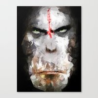 ape Canvas Prints featuring Ape by Vadim Cherniy