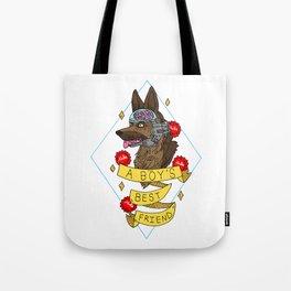 A Boy's Best Friend Tote Bag