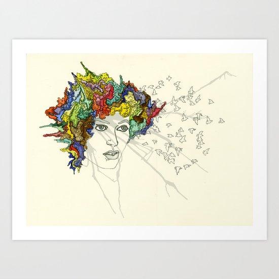 SplatterHead. Art Print