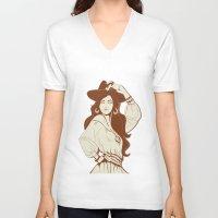 boho V-neck T-shirts featuring Boho Chic by JeraRS
