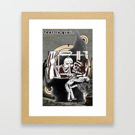 Foot to Groin Framed Art Print