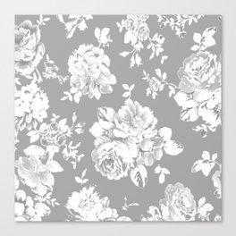 Gothic White Roses Canvas Print