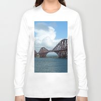 scotland Long Sleeve T-shirts featuring Forth Bridge, Scotland by Phil Smyth
