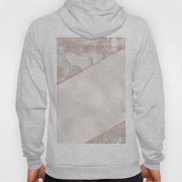 French polished rose gold marble & pearl Hoody