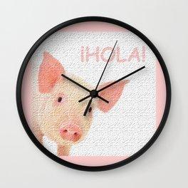 Hola! Hello! Wall Clock