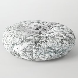 Gray marble watercolor Floor Pillow