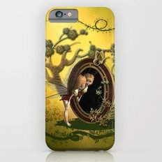 Cute fairy looking in the mirror Slim Case iPhone 6s