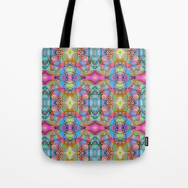 1990s Rave Style Pattern Tote Bag