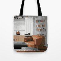 read Tote Bags featuring Read by JuniqueStudio