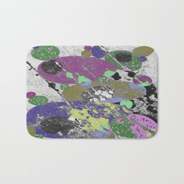 Stack Em Up! - Abstract, textured, pastel coloured artwork Bath Mat