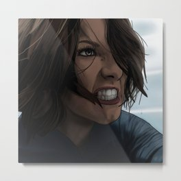 Angry Alex Denver (Supergirl) Metal Print