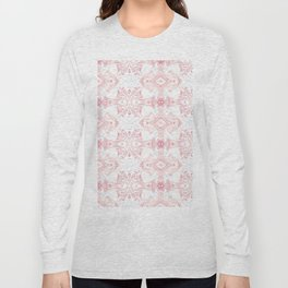 Pink Marble Pattern Long Sleeve T-shirt