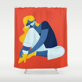 Chill Gal Shower Curtain