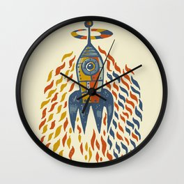 Self-firing rocket Wall Clock