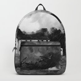 Farmhouse Watercolor (Black and White) Backpack