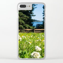 Alaskan Wildflowers Clear iPhone Case