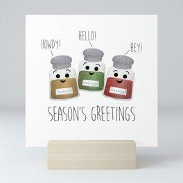 Season's Greetings   Garlic, Oregano & Paprika Mini Art Print