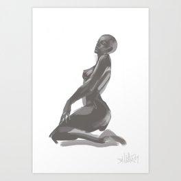 druide (ipod touch fingerpainted) Art Print